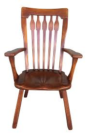 Cushman Colonial Creations Paddle Arm Style Arrow Back Accent Chair ...