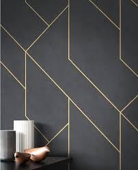 newroom vliestapete schwarz tapete modern linien muster gold grafiktapete mustertapete grafik grafisch geometrisch für wohnzimmer schlafzimmer