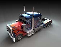Kenny Mok - Optimus Prime Truck (My First Time Using MAYA)