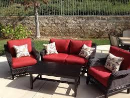 Hampton Bay Woodbury 4 Piece Wicker Outdoor Patio Seating Set with