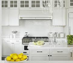mini white subway tile backsplash shaker kitchen cabinets ideas