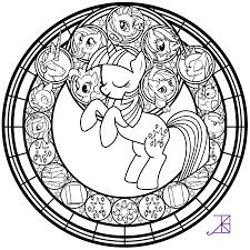 Christmas Stained Glass Coloring Pages 1