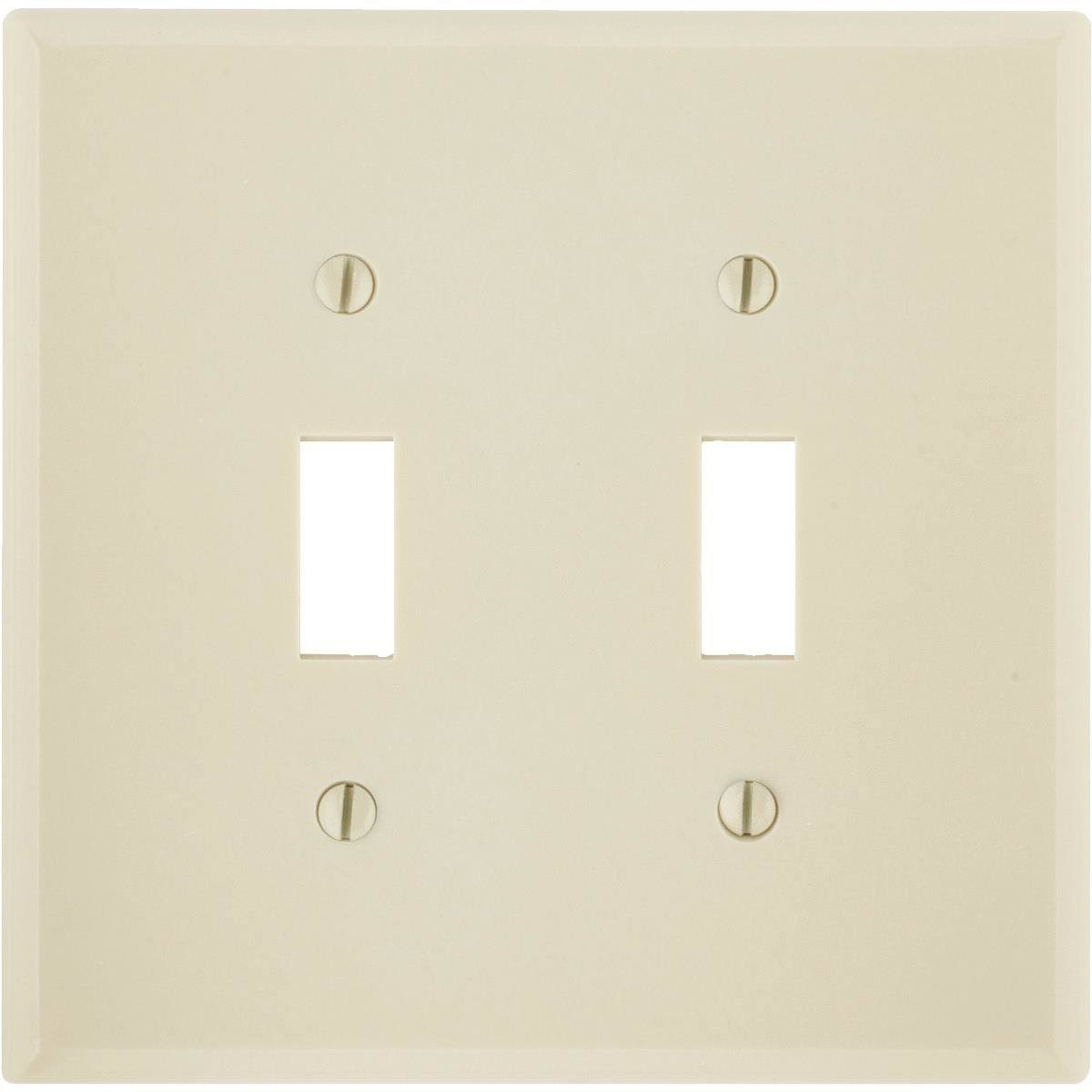 Leviton Ivory Double Gang Double Toggle Wallplate