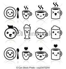 Cute Coffee Cappuccino And Espress