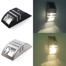 amazing of solar powered garden wall lights stainless steel solar