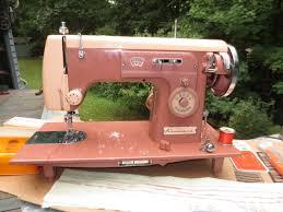 kenmore sewing machine model 35 rose pink mahogany cabinet