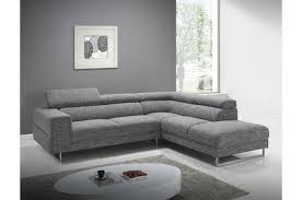 canapé d angle design tissu canapé d angle droit gris chiné en tissu zion design sur sofactory
