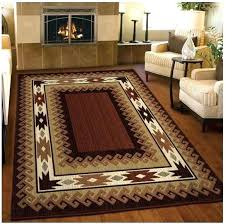 Rustic Area Rugs Cabin Cab Log For