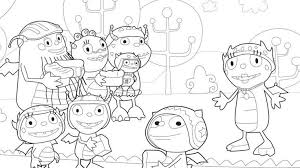 Disney Junior Coloring Pages Henry Hugglemonster
