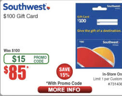 Southwest Gift Card $100 For $85 In Store Only At Frys With ...