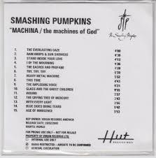 Smashing Pumpkins Zeitgeist Album Cover by Smashing Pumpkins Machina The Machines Of God Uk Promo Cd R