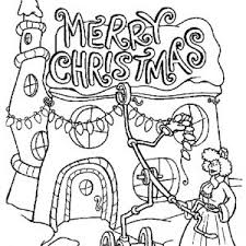 Grinch Coloring Pages How The Stole Christmas Whovilles Merry Lights Page Sourcesb