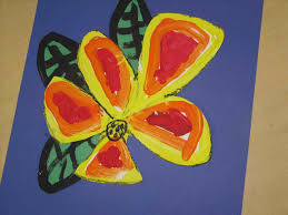 Done With Kids In Grades Acrylic Painting Stock Photos Images Pictures Shutterstock Easy Spring Flower