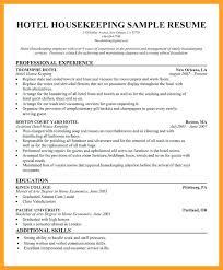 Resume Examples Housekeeping Supervisor Sample
