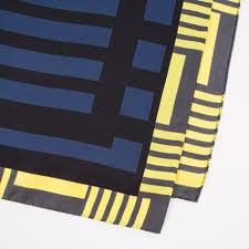 paul smith women u0027s navy and black silk u0027block stripe u0027 scarf in