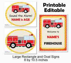 Fire Truck Birthday Decorations - Instant Download Printable Files ... Childrens Parties F4hire Firetruck Themed Birthday Party With Free Printables How To Nest A Twoalarm Fireman Spaceships And Laser Beams Amazoncom Creative Converting Fire Truck Lunch Plates 8ct Toys Great Idea For Firemen Bachelor Party Start Decorations Liviroom Decors Special 43 Best Firefighter Ideas Images On Pinterest Firetruck Birthday Card Happy