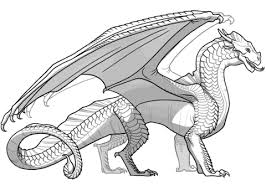 Wings Of Fire Sandwing Dragon Coloring Page