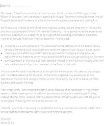 Cover Letter Morgan Stanley Example