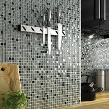 wickes glitter black silver gloss glass metal mix mosaic tile