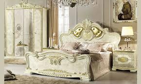 barock doppelbett schlafzimmer bettgestell beige hochglanz
