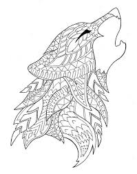 Wolf Coloring Page Design Kids