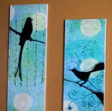 Bird Faux Oil Painting Frugal Wall Art DIY With Tutorial