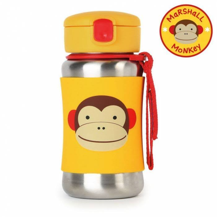 Skip Hop Kids Zoo Insulated Straw Bottle - Monkey, Stainless