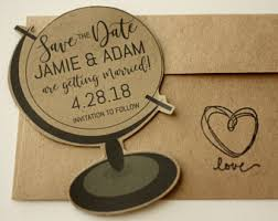 Globe Shaped Magnet Save The Date