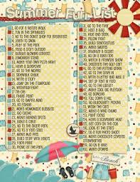 Summer Bucket List 2014