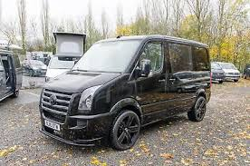 Volkswagen Crafter 25BlueTDi Race Van Conversion Matt Black Gloss Detail