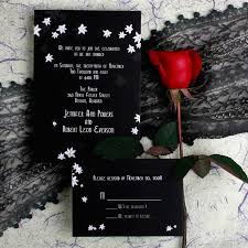 Affordable Black And White Orchid Wedding Invitations With Free Response