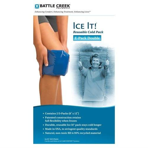 Ice It ColdCOMFORT Cold Therapy Refill Pack E-Pack Double 6x12 Pack 2