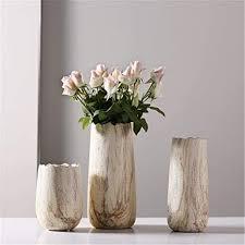 handgefertigte stein muster keramik vase dreiteilige