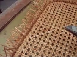 Recaning A Chair Back by Chair Caning How To Pre Woven Pt 2 Youtube