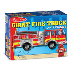 100 Melissa And Doug Fire Truck Puzzle Giant 24 Piece Shaped Floor 000772004367