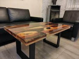 couchtisch wohnzimmertisch holztisch massivholz kamin tisch
