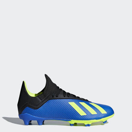 Adidas x 18.3 FG Junior Soccer Cleats Blue-Yellow - 1
