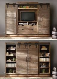 Entertainment Center With Barn Doors 1
