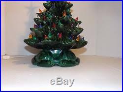 Vintage Atlantic Mold Ceramic Christmas Tree by Ceramic Christmas Tree 19 Atlantic Mold Multi Color Green Tree Nice