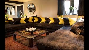 living room ideas brown sofa youtube