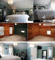 schlafzimmer renovieren holzverkleidung in weiß streichen