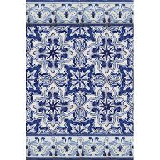 morracan blue and white tile tiles azulejos blue baroque style