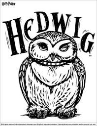 Hedwig The Owl Harry Potter Coloring Page