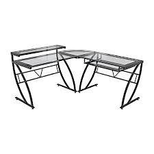z line designs feliz l shaped glass computer desk black by office
