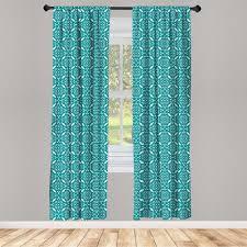gardine fensterbehandlungen 2 panel set für wohnzimmer schlafzimmer dekor abakuhaus persisch marokkanische blumenwirbel kaufen otto