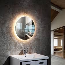 badzubehör textilien led bad spiegel rund badezimmer