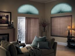 Transitional Living Room Leather Sofa by Architecture Sliding Glass Door Blinds In Transitional Living