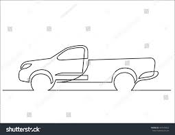 Continuous Line Drawing Pickup Truck Stock Vector 497679922 ... Semi Truck Outline Drawing Peterbilt Coloring Page How To Sketch 3d Arstic Of A Simple Draw Youtube An F150 Ford Pickup Step By Guide Illustration With Royalty Pencil Sketches Trucks Drawings Excellent Vector Cliparts To A Chevy Drawingforallnet Black White Stock 551664913 Old Speed Diesel Transportation Free