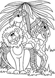 Jungle Scene Coloring Page Free Pages On Art