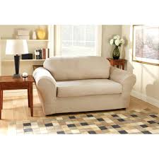 Sure Fit Wing Chair Recliner Slipcover by Sofas Awesome Sure Fit Duck Solid T Cushion Sofa Slipcover